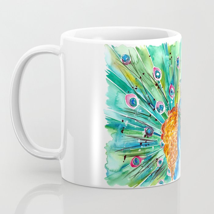 Vibrant Peacock Coffee Mug