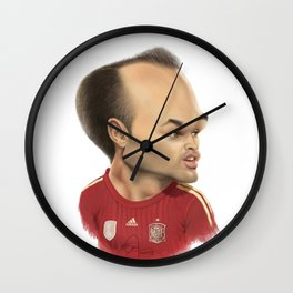 Andres Iniesta - Spain Wall Clock