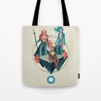 guardians Tote Bags featuring The Guardians by Reno Nogaj