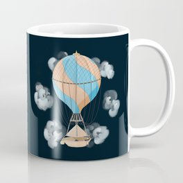 The dreamer: floating away on a vintage hot air balloon Coffee Mug
