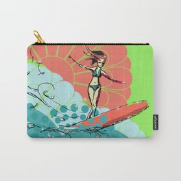 Ride and Shine- Surfer Gal Carry-All Pouch