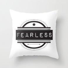 #Fearless Throw Pillow