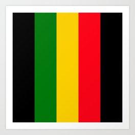 Rastafari Colors Art Print