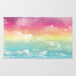 Clouds in a Rainbow Unicorn Sky Rug