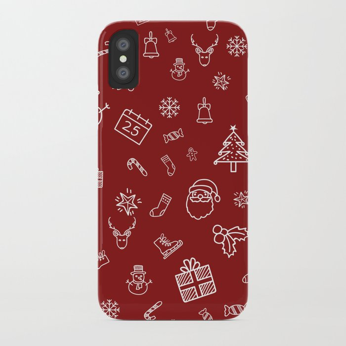 Xmas Red iPhone Case