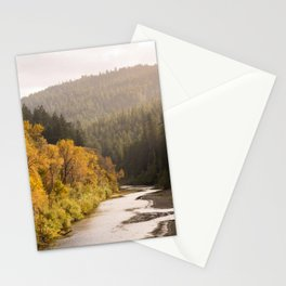 Humboldt County Fall Colors, Autumn Decor, Redwoods, Avenue of the Giants California Photography  Stationery Cards