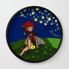 Firefly Fairy Wall Clock