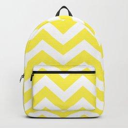 Lemon yellow - yellow color - Zigzag Chevron Pattern Backpack