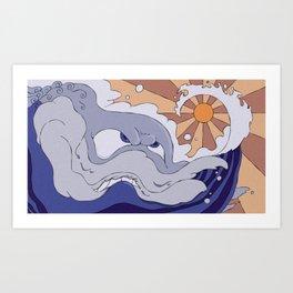 Mad Wave Art Print