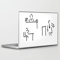 lawyer Laptop & iPad Skins featuring lawyer judge public prosecutor court by Lineamentum
