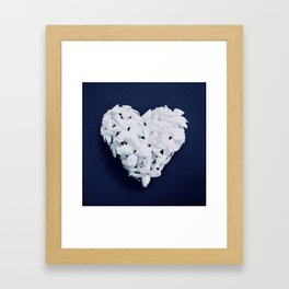 Heart on Blue Framed Art Print