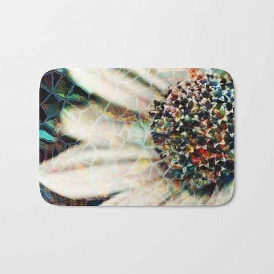 Floral Mosaic Bath Mat