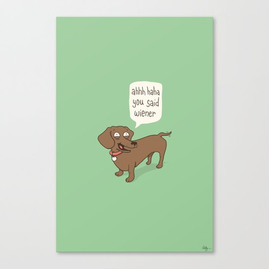 Immature Dachshund Canvas Print