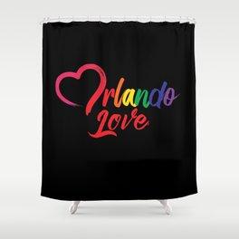Heart Orlando Love Shower Curtain