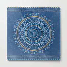 Astral Lullaby in Blue Metal Print