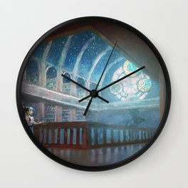 The Library under the Stars Wall Clock