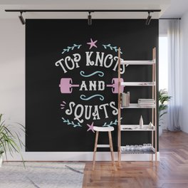 Top Knots And Squats Wall Mural