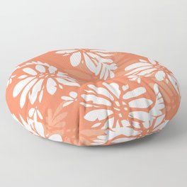Coral Florals Modern Pattern Floor Pillow