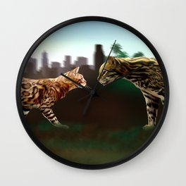 Meet the wild brother - Part 3 Wall Clock