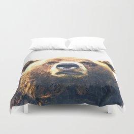 Bear portrait Duvet Cover
