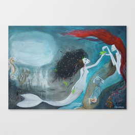 The little mermaid_Illustration Canvas Print