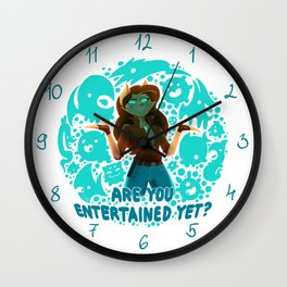 Are you entertained yet? || ScribbleNetty (Colored) Wall Clock