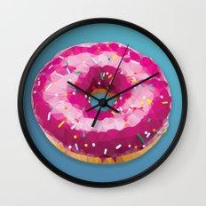 Lowpoly Donut Wall Clock
