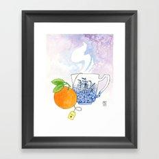 Orange Cup Framed Art Print