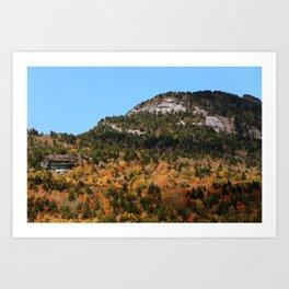 Grandfather Mountain in the Fall Art Print