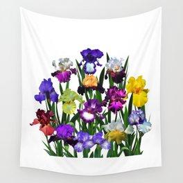 Iris garden Wall Tapestry
