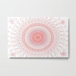 Red White & Blue Metal Print