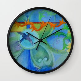 The arrival of summer Wall Clock