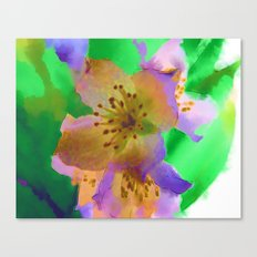 Purple Flowers - Watercolour Painting Canvas Print