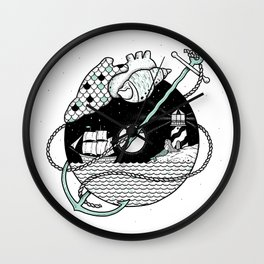 Goodbyes Wall Clock