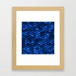 Blue Mermaid Scales Framed Art Print