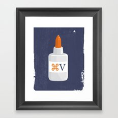 Command Paste Framed Art Print