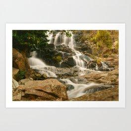 Silky Cascading Waterfall Hong Kong Art Print