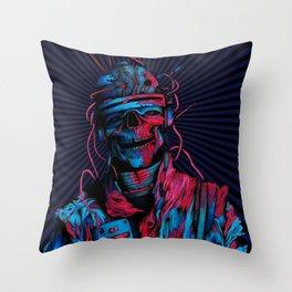 Skelenaut V2 (Color) Throw Pillow