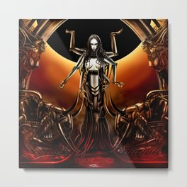 Black Sun Rising Metal Print