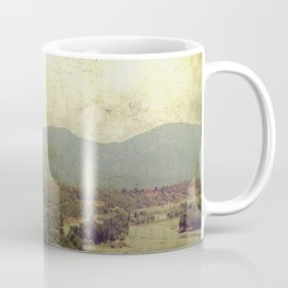 Vintage river landscape and mountain Coffee Mug