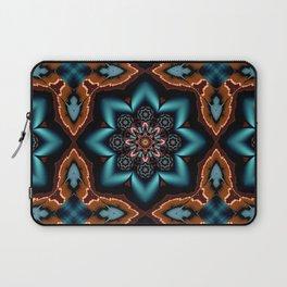 Blue Glow Mandala Laptop Sleeve
