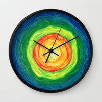big bang Wall Clocks featuring Big Bang by Shalimar Luis