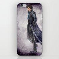 battlefield iPhone & iPod Skins featuring Sherlock: The Battlefield by Doodleholic