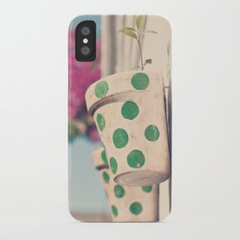 Nature and polka dots iPhone Case