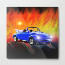 70 Super Bug convertible Metal Print