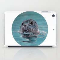 seal iPad Cases featuring seal by ARTito