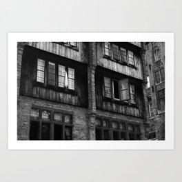 Windows in an Old Bar Art Print