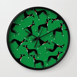 Crazy Hounds Wall Clock