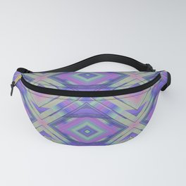 Purple and Green Woven Squares Fanny Pack