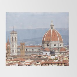 Florence cathedral dome photography Throw Blanket